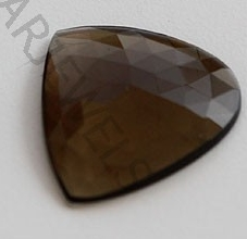 wholesale Smoky Quartz Rose Cut Slice