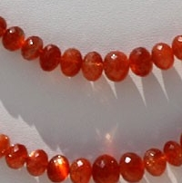 wholesale Sunstone Gemstone  Faceted Rondelles