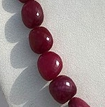 16 inch strand Ruby Faceted Nugget