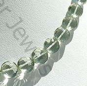 aaa Green Amethyst Gemstone  Coin Beads