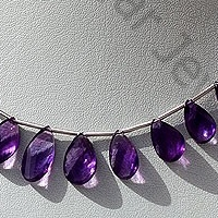 aaa Amethyst Gemstone Twisted Flat Pear
