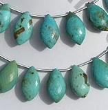 wholesale Turquoise Gemstone Dolphin Briolette