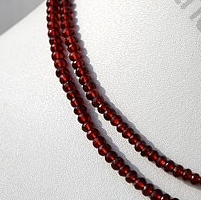 16 inch strand Garnet Gemstone  Faceted Rondelle