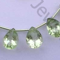 wholesale Green Amethyst Gemstone Pan Beads