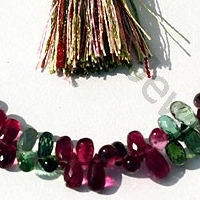 wholesale Tourmaline Gemstone Beads  Tear Drops Briolette