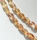 16 inch strand Imperial Topaz  Oval Faceted