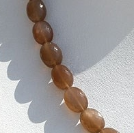 16 inch strand Coffee Moonstone Faceted Oval