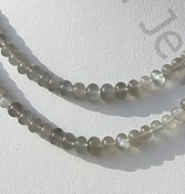 wholesale Grey Moonstone Plain Beads