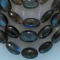 aaa Labradorite Blue Power Oval Faceted Beads