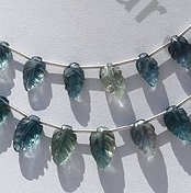 wholesale Fluorite Gemstone Beads  Carved Leaf