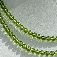 aaa Peridot Gemstone Beads  Faceted Rounds