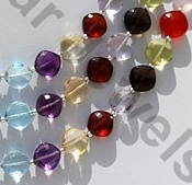 aaa Semi Precious Gemstone Multi Puffed Diamond