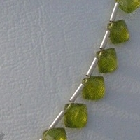 aaa Vesuvianite  Puffed Diamond Cut