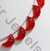 aaa Carnelian Gemstone  Moon Shape