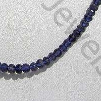 Iolite Gemstone Beads  Faceted Rondelles