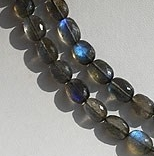 16 inch strand Labradorite Blue Power Oval Faceted Beads