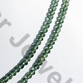 aaa Green Apatite Faceted Rondelle