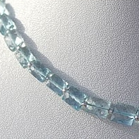 aaa Aquamarine Gemstone  Faceted Rectangles