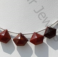 wholesale Mookaite Jasper Polygon Diamond Cut