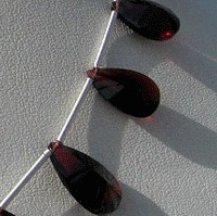 aaa Garnet Gemstone  Both Side Concave Cut