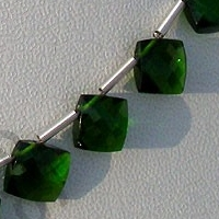 aaa Chrome Diopside Puffed Diamond Cut Cushion Shape