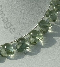 aaa Green Amethyst Gemstone Chubby Heart beads