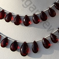 wholesale Garnet Gemstone  Flat Pear Briolette
