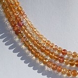 16 inch strand Imperial Topaz  Faceted Rondelles