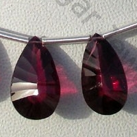 8 inch strand Rhodolite Garnet Both Side Concave Cut