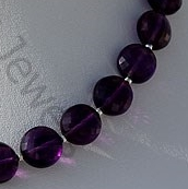 aaa Amethyst Gemstone Faceted Coin