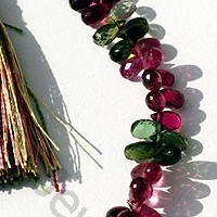 aaa Tourmaline Gemstone Beads  Tear Drops Briolette