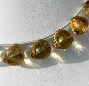 8 inch strand Champagne Citrine faceted chestnut