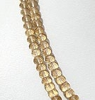 16 inch strand Champagne Citrine  Faceted Rondelle