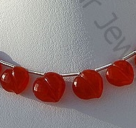 wholesale Carnelian Gemstone Faceted Chubby Heart