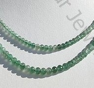 Green Strawberry Quartz Faceted Rondelle