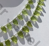 aaa Peridot Gemstone Carved Leaf