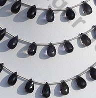 wholesale Iolite Gemstone Beads Tear Drops Briolette