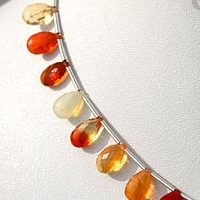 wholesale Mexican Fire Opal  Gemstone  Flat Pear Briolette