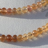 wholesale Imperial Topaz  Faceted Rondelles