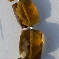 wholesale Cognac Quartz  Faceted Rectangles