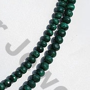 aaa Malachite Faceted Rondelle