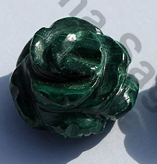 1 inch strand Malachite Half Drilled Gemstones