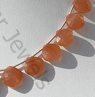 aaa Orange Moonstone Puffed Diamond Cut