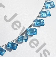 aaa Blue Topaz Gemstone Octagons