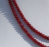 16 inch strand Ruby Gemstone Faceted Rondelle