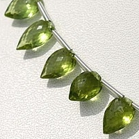 wholesale Peridot Gemstone Beads  Conch Briolette