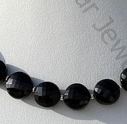 wholesale Black Spinel Gemstone Faceted Coin