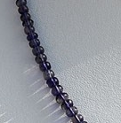 16 inch strand Iolite Gemstone Plain Beads