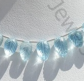 wholesale Blue Topaz Carved Leaf