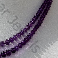 wholesale Amethyst Gemstone Beads Faceted Rondelle